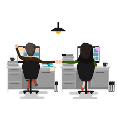 two business man and woman making a fist bump at vector image vector image