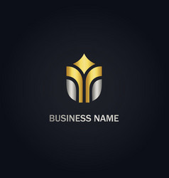 abstract building company gold logo vector image
