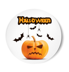 angry surprised halloween realistic white vector image