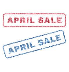 April sale textile stamps vector