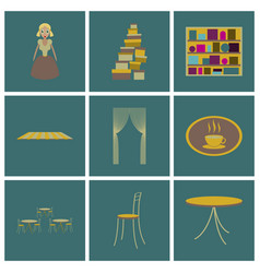 Assembly flat icons interior vector