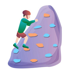 athletic wall climbing icon cartoon style vector image