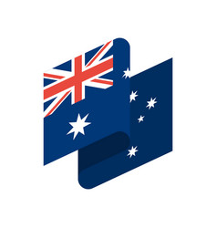 australia flag ribbon isolated australian tape vector image