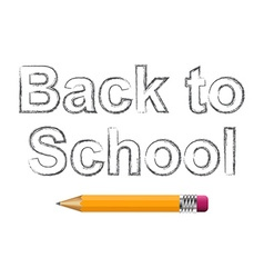 Background with text back to school and pencil vector