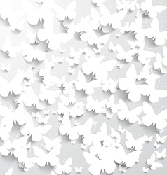 Background with White Butterflies vector image
