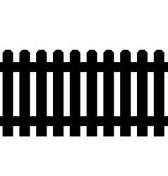 Black fence vector image