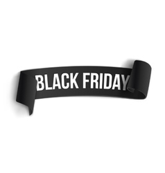 Black friday sale curved ribbon banner template vector