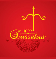 Bow and arrow in happy dussehra festival of india vector