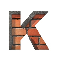 Brick cutted figure k Paste to any background vector