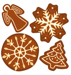 Bright colorful poster with christmas ginger bread vector