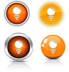 Bulb buttons vector