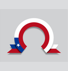 chilean flag rounded abstract background vector image