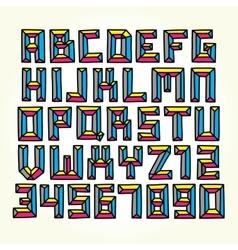 Cmyk font set vector