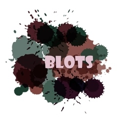 Colorful bright ink splashes on white background vector image