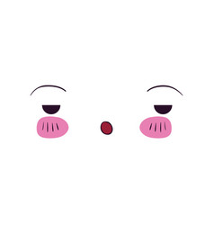 Colorful facial expression boring kawaii vector