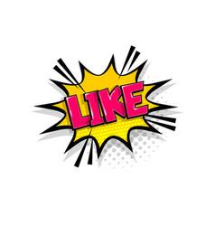 comic text like speech bubble pop art style vector image