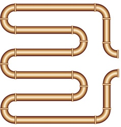 Copper pipe vector