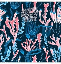 Coral Seamless Pattern vector