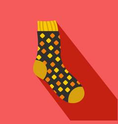 Cotton sock icon flat style vector