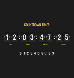 countdown timer meter scoreboard digital watch vector image