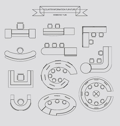 counter information outline icon vector image