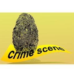 crime scene vector image
