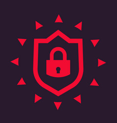 cybersecurity icon vector image