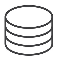Data storage line icon web and mobile database vector