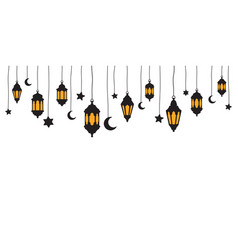decorations ramadan hanging lantern background vector image