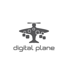digital plane concept design template vector image