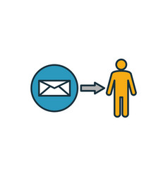 Direct message icon outline filled creative vector