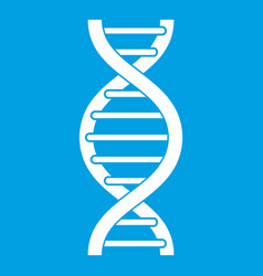 Dna spiral icon white vector