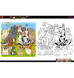 dog breeds coloring page vector image