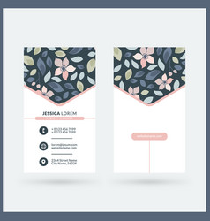Double-sided vertical modern business card vector