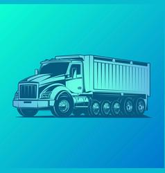 dump truck huge load vector image
