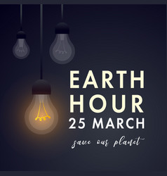 Earth hour 60 min vector