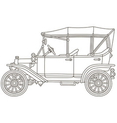 funny old toy vintage car vector image