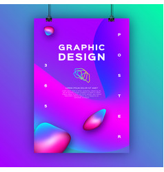 geometric gradient background fluid shapes vector image
