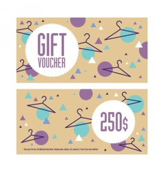 Gift voucher template Both sides Envelope size vector
