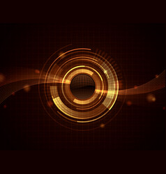 golden sphere web abstract background wallpaper vector image
