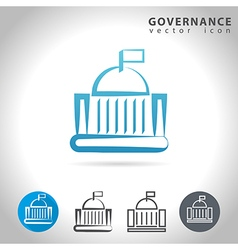 governance blue icon vector image