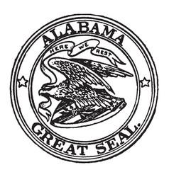 Great seal of alabama 1911 vintage vector