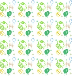 Happy birthday and anniversary seamless background vector image
