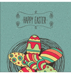 Heap of Easter eggs vector