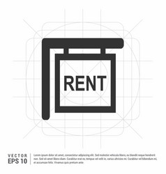 House for rent icon vector