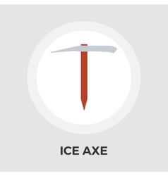 Ice axe flat icon vector image