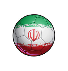 Iranian flag football - soccer ball vector