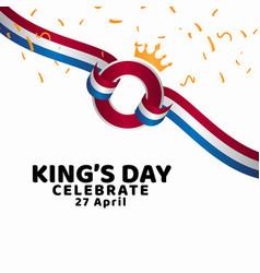 Kings day celebrate template design vector