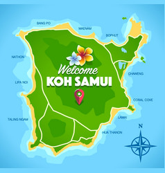 Koh samui map vector