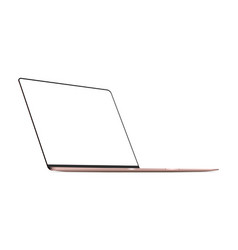 laptop pink mock up with blank frameless screen vector image